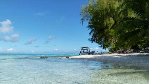 Lagune der Pension Vaiama